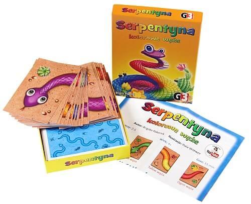 Zawartość pudełka gry Serpentyna Kolorowe węże