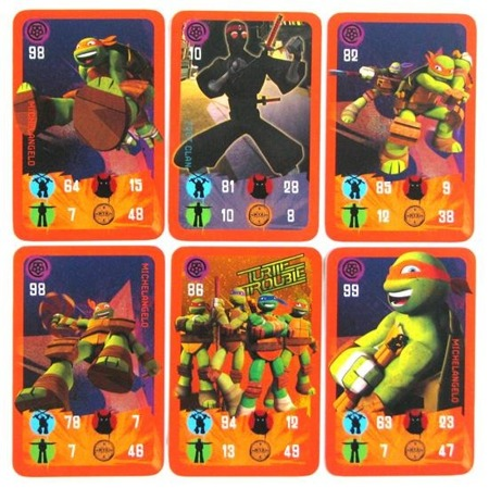 Turtles: Power Cards - Michelangelo (pomarańczowe)