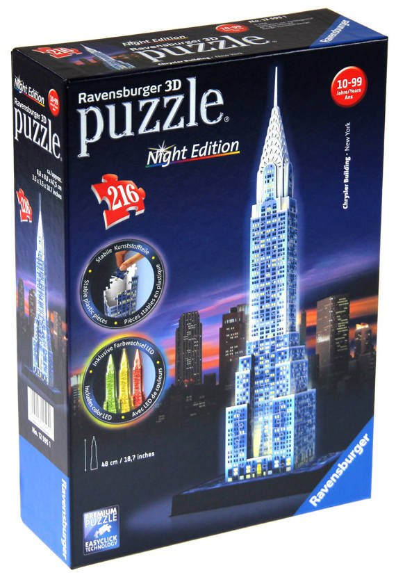 Puzzle 3D - Budynek Chryslera (Night Edition)